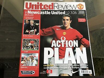 Manchester United V Newcastle United. March 2006. Match Programme.