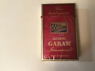 GUDANG GARAM INTERNATIONAL FILTER CIGARETTES, Pack of 12 CIGARETTES, SEALED