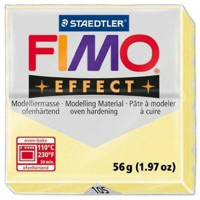Staedtler Fimo Effect Pastel Vanilla (105) Polymer Modelling Clay Oven Bake 56g