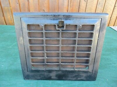 ANTIQUE VICTORIAN Cast Iron Heat Wall Vent Floor Grille Grate Register 13 x 11