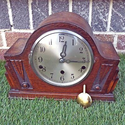 Art Deco Westminster Chime Mantle Clock - Needs Attention - Sold As Seen