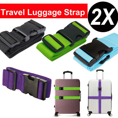 2PACK Adjustable Travel Luggage Suitcase Strap Baggage Backpack Bag Packing Belt