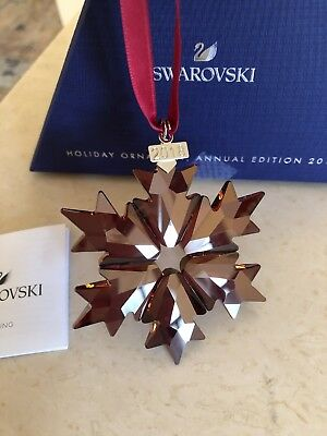 Swarovski Crystal 2018 Holiday Red Star Annual Edition Ornament  5460487 New Box