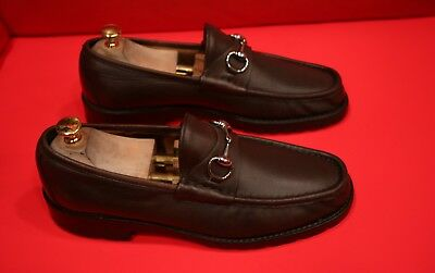 36aacd45e77 NEW GUCCI MEN S Dark Blue Polished Leather Penny Loafer Dress Shoes ...