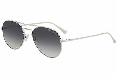 d8f129a5f8 Tom Ford Women s Indiana TF497 TF 497 18B Shiny Rhodium Pilot Sunglasses  58mm
