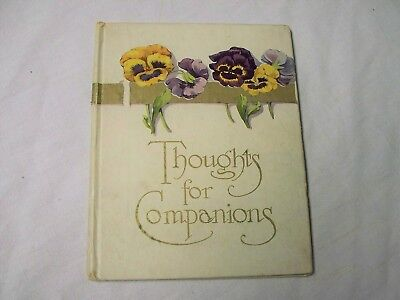 Antique 1800's THOUGHTS FOR COMPANIONS by Cupples & Leon w/Color Illustrations