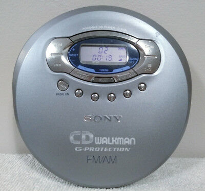 Sony CD Walkman G Protection FM/AM Portable Player D-FJ61