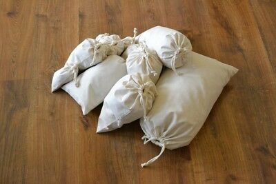 Reusable Eco Friendly Cotton Drawstring Muslin Bags (Natural Color)- SAMPLES