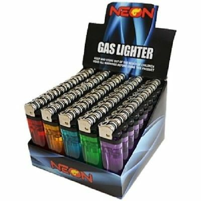 10 Neon Gas Disposable Butane Lighters New And Boxed Colored Qualit Light