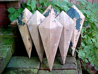 Antique Victorian Wood Panel Diamond Stressed Rustic Shabby Chic Architectural