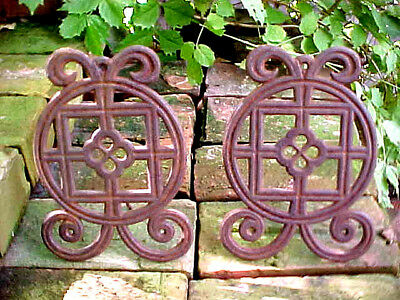 Antique Victorian Cast Iron Ornate Panel Grate Grid Shabby Chic Architectural