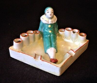 Vintage Japanese Pierrot/Clown ashtray - could be pen/pencil paper clip holder.