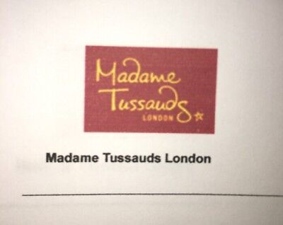 6 Entry Tickets - Madame Tussauds London  21st February 2019 At 1:00pm Half Term