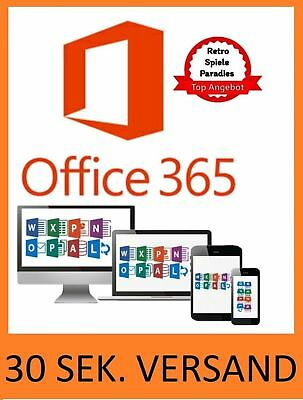Microsoft Office 365 5x PC o Mac Kein Abo Lebenslanger Acccount Office 2016