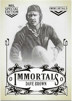 2018 Nrl Glory Case Card Immortals Sketch (IMSKC11) Dave BROWN 10/70