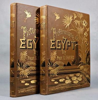 """1878 Egypt Descriptive Historical and Picturesque Illustrated Lg. Folio 15""""x12"""""""