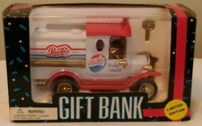 Limited Edition Pepsi Die Cast Golden Wheel Tanker Truck Bank
