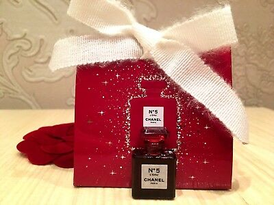 NIB 2018 RARE Miniature Collectable CHANEL N°5 L'EAU EDT RED EDITION 1,5 ml