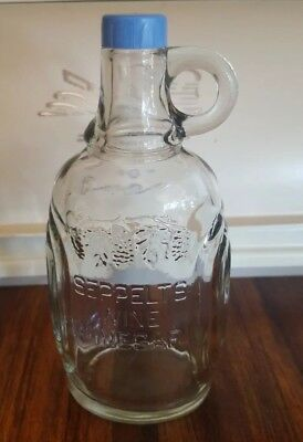 Seppelts Wine Vinegar Table Dispensing Bottle Fish And Chips 1950's VGC