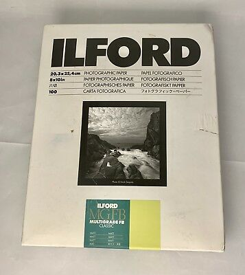 """Ilford Multigrade FB Double Weight Matte Variable Contrast Paper 8x10"""" 100 Sheet"""