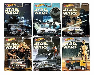 Hot Wheels 1:64 Pop Culture F Case Star Wars Assortment Set Of 6 Dlb45-956F
