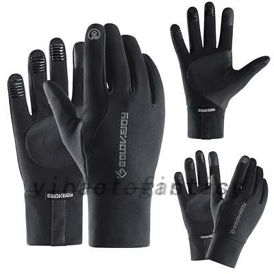 HOT Men Women Thermal Reflective Touch Screen Gloves Running Sports Gloves S-XL
