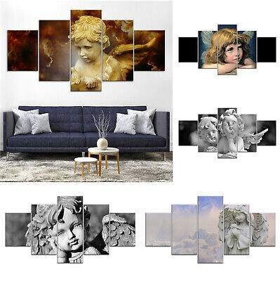 Christian Angel Canvas Print Painting Framed Home Decor Wall Art Poster 5P