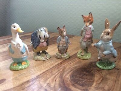 vintage beswick beatrix potter 5 figures