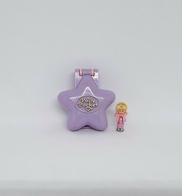 1992 Vintage Polly Pocket - Film Star Locket w/ original figure - Bluebird Toys