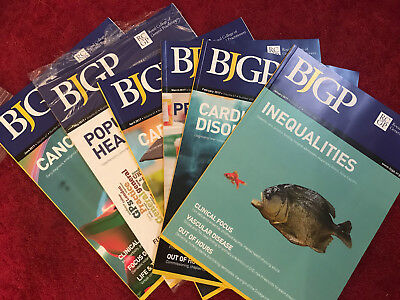 New British Journal of GP Medical x6  BJGP Jan-June 2017 RGCP 6x journals