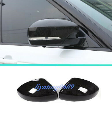 Carbon Fiber Side Door Rearview Mirror Cover Trim For Range Rover Sport 2014-18