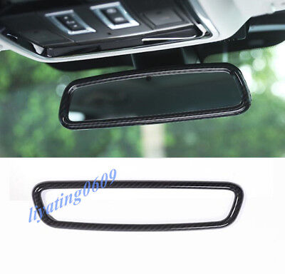 Carbon Fiber Interior Rearview Mirror Frame Trim For Range Rover Sport 2014-2018