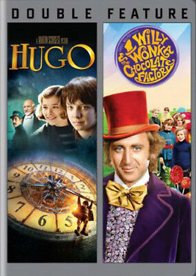 Hugo (2011) / Willy Wonka and The Chocolate Factory (2 Disc) DVD NEW