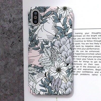 Leaf Flowers Phone Case for iPhone XR X XS Max 7 6 6S 8Plus Retro Hard PC Cover