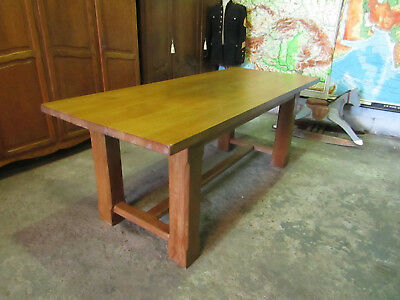 French vintage farmhouse,kitchen dining table,solid oak refectory 2 metres long