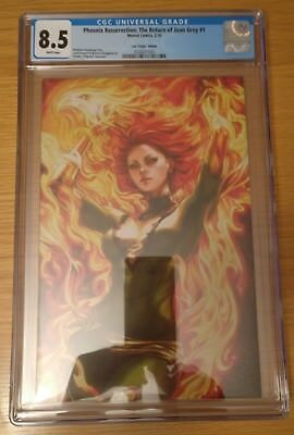 PHOENIX RESURRECTION RETURN JEAN GREY 1 CGC 8.5 1:100 ARTGERM VIRGIN Cover
