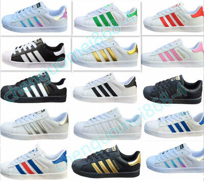 Womens Sports Shoes Lace-Up Pumps Trainers Running Fitness Superstars Mens Shoes