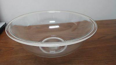 VINTAGE PYREX Large Clear Glass Nesting Mixing Bowl  #326 4L USA Made
