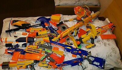 Nerf Gun Bundle With Darts, Scopes, Stocks, Clips And More !!!! Job Lot