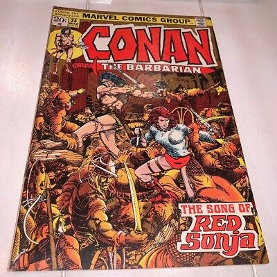Conan the Barbarian #24 FN+ Barry Smith, 1st Full App & Cover Red Sonja KEY