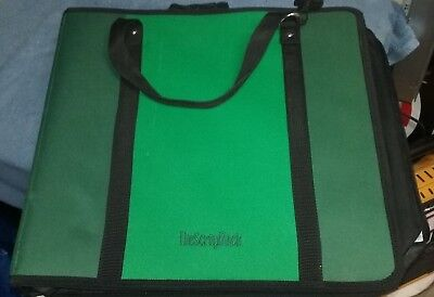 The Scraprack Scrap Rack Portable Srapbooking Organizer Green Used GC