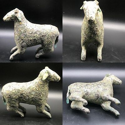 Wonderful Ancient Rare Unique old Roman Glass Sheep