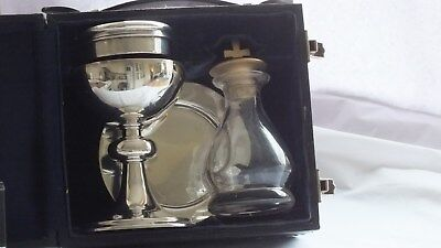 Solid silver 4 piece communion set London 1945/6 by J Wippell(Military interest)
