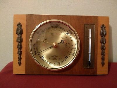 Vintage Shortland Barometer Thermometer Decorative Square SB MADE IN ENGLAND UK
