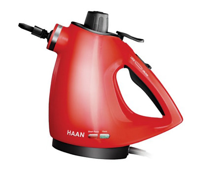 Haan HS-20R Handheld Steam Cleaner with Attachments Red