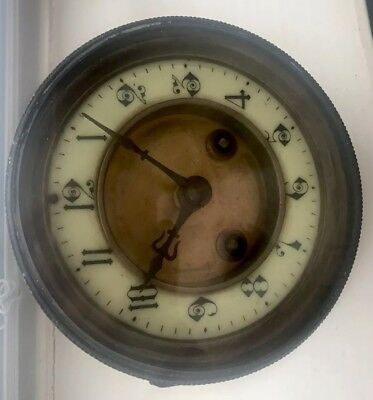 Vintage Clock Movement For Spares.  (No key included)