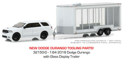Greenlight Dodge Durango 2018 with Glass Display Trailer 32150 D 1/64