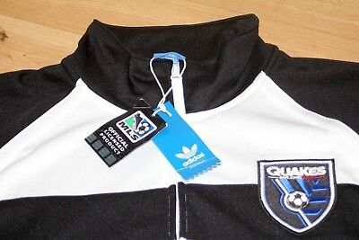 "Adidas Originals Mls San Jose Quakes Usa Track Jacket Top New Xl 44/46"" Rare"