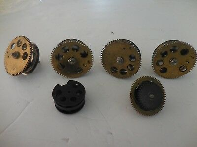 Lot Of Old Original Assorted Clock Chain Wheels