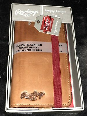 f940b91776a Rawlings Universal Magnetic Phone Case Wallet. Genuine Leather. BNWT.  75  Value